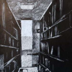 Library in silverpoint