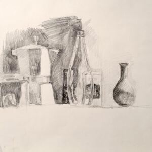 sketch – still life with espresso maker